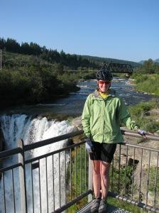 My thighs & I at Lundbreck Falls