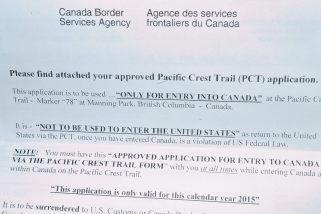 "My ""Entry to Canada"" permit!"