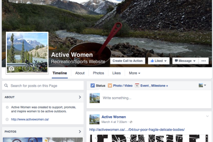 Finally, an Active Women Facebook page!